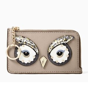 🆕 kate spade Star Bright Owl Poppy Coin Purse